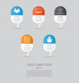 web icons set collection of team display vector image