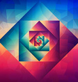 Vintage optic art geometric pattern vector image