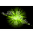 green explosive on the black vector image vector image