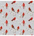 Winter Birds Retro Background vector image vector image