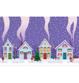 christmas eve in the city vector image