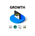 Growth icon in different style vector image
