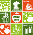 Healthy Produce Icons vector image