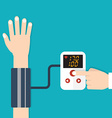 High blood pressure concept vector image