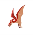 Pterodactyl Mid-air Flat vector image