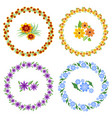 set of cheerful beautiful multicolored wreaths and vector image