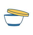 soup bowl food vector image
