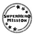 superhero mission vector image