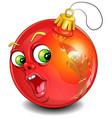 surprised christmas ball vector image