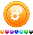 Tools circle button vector image
