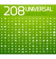 Set of 208 universal icons vector image vector image