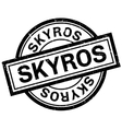 Skyros rubber stamp vector image