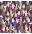 Seamless pattern with multicolored hands vector image