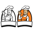 chef with okay sign hand vector image vector image
