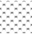 crab sea animal pattern vector image