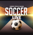 soccer sports poster design with football vector image
