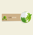 Nature banner Paper with Green Eco Earth vector image