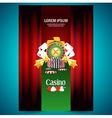 cover poster face casino european roulette money vector image