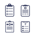 Set Medical Records Clipboard vector image