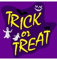 trick ot treat card vector image
