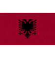 Flags Albania on denim texture vector image