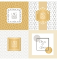 Set of line patterns and linear frames vector image