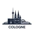 Cologne Skyline Emblem vector image