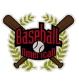 Baseball tournament professional logo vector image