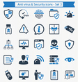 Anti Virus And Security Icons - Set 3 vector image