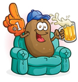 Couch Potato Sports Fan Cartoon Character vector image