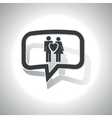 Curved love couple message icon vector image