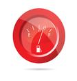 fuel gauge red icon vector image