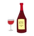 Glass wine vector image