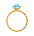 isolated ring icon vector image