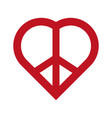 peace and love symbol vector image