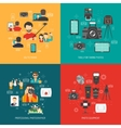 Photography concept set vector image