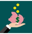 Saving money bank vector image