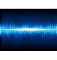 Sound waves oscillating vector image
