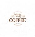 vintage dark coffee emblem flat retro vector image