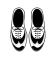 silhouette tap shoes for mens with laces vector image