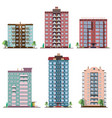 set of different panel residential houses vector image
