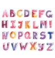 colorful watercolor hand drawn alphabet vector image