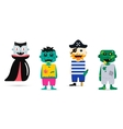 Set of halloween costume characters vector image