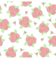 beautiful bouquets of roses Seamless pattern vector image vector image