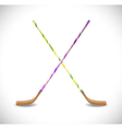 Isolated hockey sticks vector image