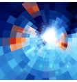 Blue abstract concentric mosaic tiles background vector image