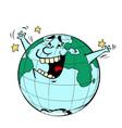 earth day happy joyful planet vector image