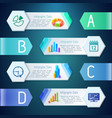 infographic digital banners vector image