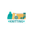 knitting flat style vector image