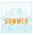 Line Style Flat Summer Card or Background vector image
